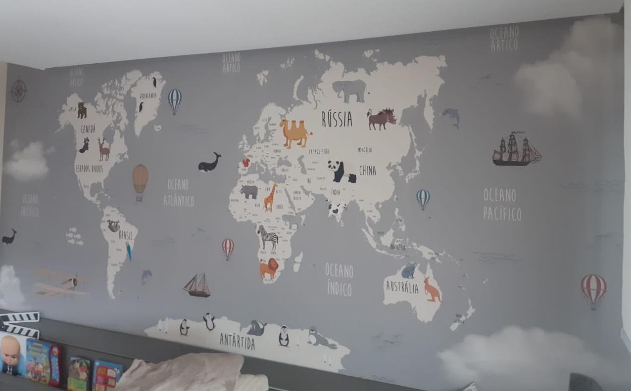 decoracao papel de parede